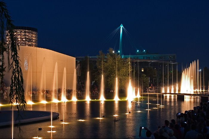 Die Magic Water Show der Autostadt Wolfsburg