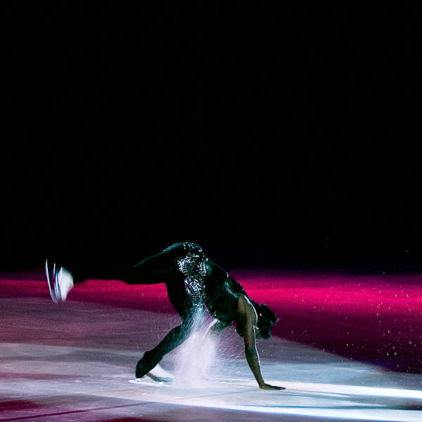 Surya Bonaly, famous backflip landed on only one blade. Autostadt Wolfsburg